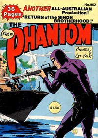 The Phantom (Frew, 1983 series) #962 — Return of the Singh Brotherhood! (Cover)