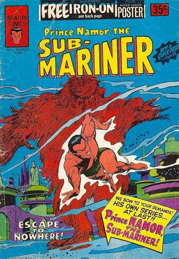 Prince Namor, The Sub-Mariner (Newton, 1976? series) #1 (March 1976)