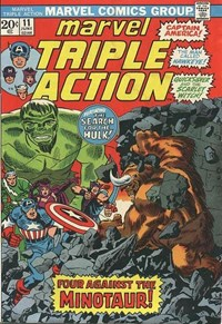 Marvel Triple Action (Marvel, 1972 series) #11 — Four Against the Minotaur!
