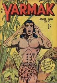 Yarmak Jungle King Comic (Youngs, 1949 series) #43 — Quest of the White Gorilla (Cover)