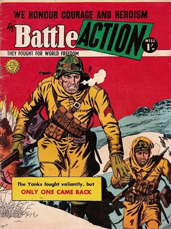 Only One Came Back—Battle Action (Horwitz, 1954 series) #52  ([November 1958?])