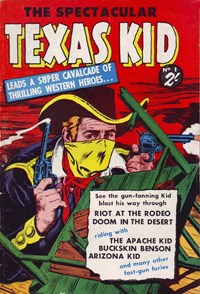The Spectacular Texas Kid (Horwitz, 195-? series) #1 — Untitled (Cover)