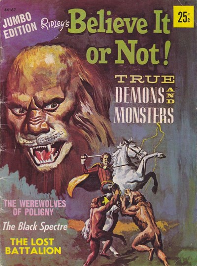 Ripley's Believe It or Not! True Demons and Monsters Jumbo Edition (Rosnock, 1974) #44167 (1974)