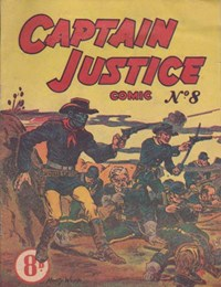 Captain Justice (New Century, 1950 series) #8 ([July 1951?]) —Captain Justice Comic