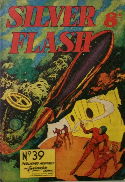 Silver Flash and his Frog-Men (Invincible, 1949 series) #39 ([August 1953?])