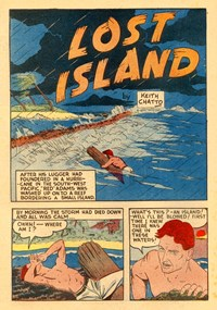 Captain Triumph All Color Comics (KGM, 1947 series) #3 — Lost Island (page 1)
