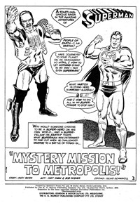 Superman Supacomic (KG Murray, 1974 series) #193 — Mystery Mission to Metropolis! Chapter 1: The Mystery Unravels… (page 1)