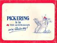 It's Pickering's Best (Pickering, 1976)  — Pickering is in The Australian Every Blinkin' Day! (page 1)