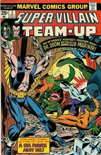 Super-Villain Team-Up (Marvel, 1975 series) #2 — A Sea Prince Must Die! (Cover)
