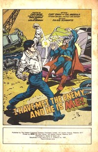 Superman III (Federal, 1983?)  — I Have Met the Enemy… and He Is Me! (page 1)
