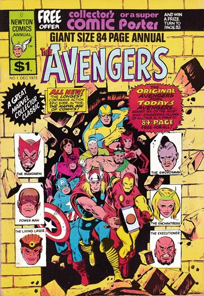 The Avengers Giant Size 84 Page Annual (Newton, 1975 series) #1  (December 1975)