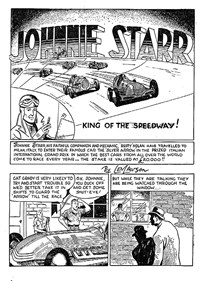Action Comic (Peter Huston, 1946 series) #1 — Johnnie Starr King of the Speedway! (page 1)