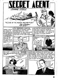 Action Comic (Peter Huston, 1946 series) #3 — The Case of the Missing Bullion Fleet (page 1)