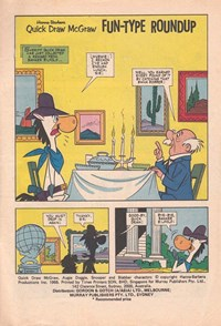 Hanna-Barbera Quick Draw McGraw (Murray, 1977? series) #6 — Fun-Type Roundup (page 1)
