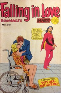 Falling in Love Romances (Colour Comics, 1958 series) #82 — Pity Her--But Love Me! (Cover)