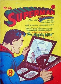 Superman (Colour Comics, 1950 series) #66 — The Mighty Mite (Cover)