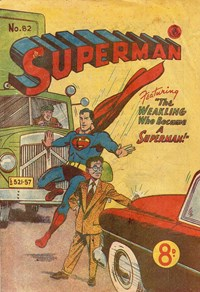 Superman (Colour Comics, 1950 series) #82 — The Weakling Who Became a Superman! (Cover)