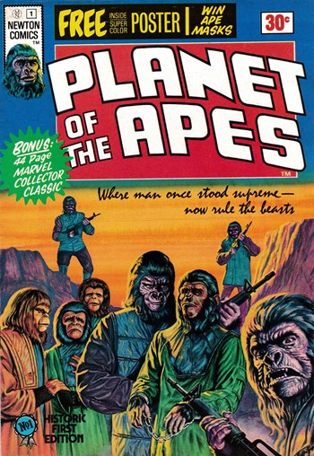 Where man once stood supreme—Now rule the beasts—Planet of the Apes (Newton, 1975 series) #1  ([May 1975?])