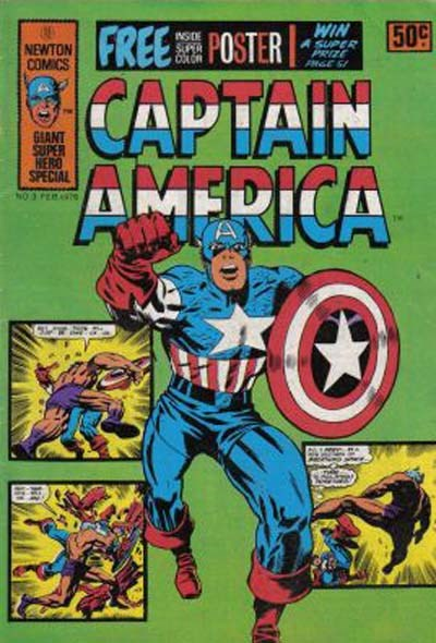 Captain America (Newton, 1975 series) #3 ([February 1976?]) —Giant Super Hero Special