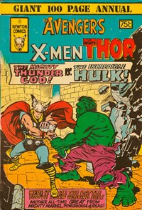 The Avengers The X-Men The Mighty Thor (Newton, 1975)  (1975) —Newton Triple Action