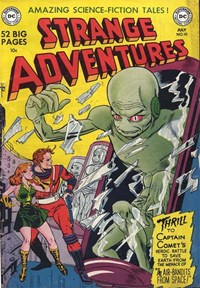 Strange Adventures (DC, 1950 series) #10 — The Air-Bandits from Space! (Cover)