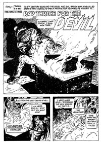 Ripley's Believe It or Not! True Ghost Stories (Rosnock/SPPL, 1975) #25161 — Rap Thrice for the Devil (page 1)