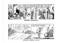 "Bluey and Curley (""Truth"" and ""Sportsman"", 1942? series) #1947 — Doctors Implements (page 1)"