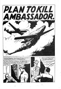Plan to Kill Ambassador., Page 1—The Crimson Comet (Action Comics, 1955 series) #15  ([1955])