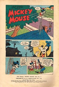 Page 1—Walt Disney's Mickey Mouse [MM series] (WG Publications, 1953 series) #M.M.4  (February 1954)