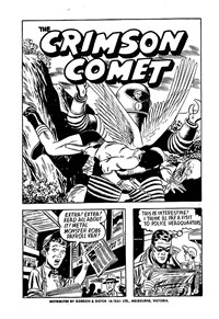 Page 1—The Crimson Comet (Action Comics, 1955 series) #27  ([1956?])