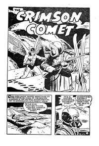 Page 1—The Crimson Comet (Action Comics, 1955 series) #20  ([1956?])
