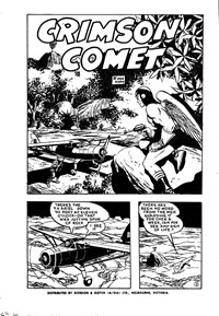 Page 1—The Crimson Comet (Action Comics, 1955 series) #16  (1955)