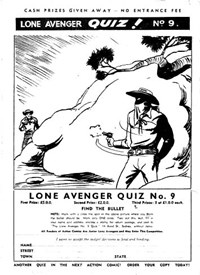 Action Comic (Leisure Productions, 1948 series) #20 — Lone Avenger Quiz! No. 9 (page 1)