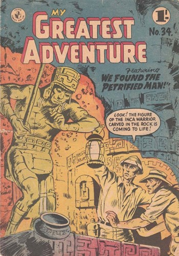We Found the Petrified Man!—My Greatest Adventure (Colour Comics, 1955 series) #34  ([January 1958?])