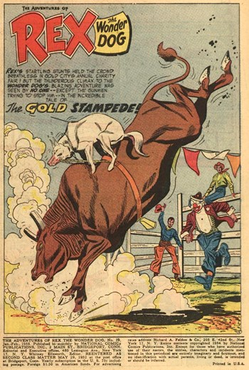 The Adventures of Rex the Wonder Dog (DC, 1952 series) #19 — The Gold Stampede! (page 1)