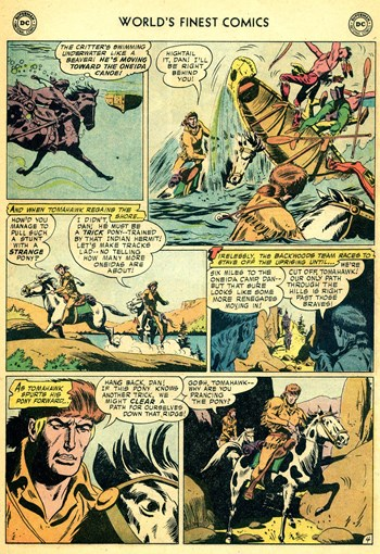 World's Finest Comics (DC, 1941 series) #96 — Tomahawk's Pony Partner (page 4)