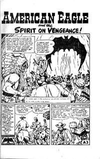 American Eagle (Atlas, 1955? series) #4 — American Eagle and the Spirit on Vengeance! (page 1)