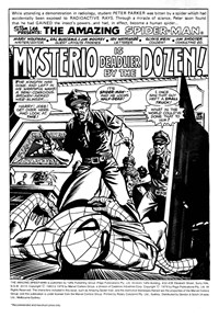 Mysterio is Deadlier by the Dozen!, Page 1—The Amazing Spider-Man (Yaffa/Page, 1977 series) #198-199  (November-December 1979)
