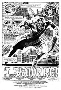 I... Vampire, Page 1—I... The Cursed (Murray, 1982? series)  ([1982?])