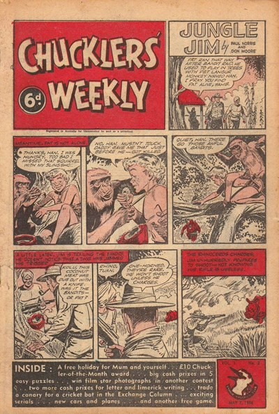 Chucklers' Weekly (Consolidated Press, 1954? series) v1#2 (7 May 1954)