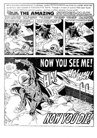 The Amazing Spider-Man (Yaffa/Page, 1977 series) #198-199 — Now You See Me! Now You Die! (page 1)