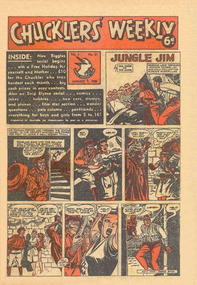 Chucklers' Weekly (Consolidated Press, 1954? series) v1#37 (7 January 1955)