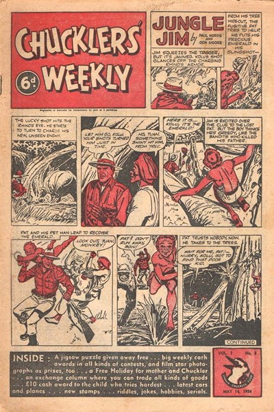 Chucklers' Weekly (Consolidated Press, 1954? series) v1#3 (14 May 1954)