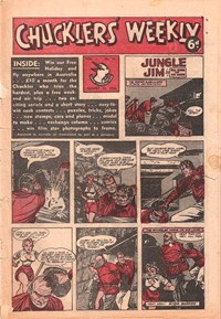 Chucklers' Weekly (Consolidated Press, 1954? series) v1#16 (13 August 1954)