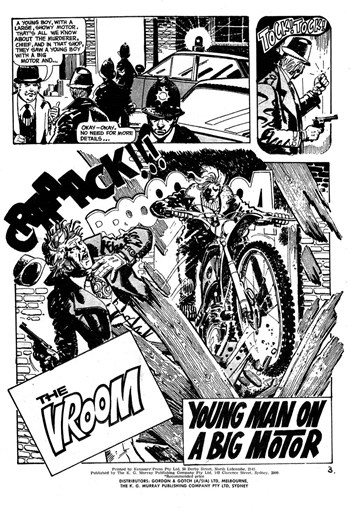 Climax Adventure Comic (KG Murray, 1974 series) #19 — Young Man on a Big Motor (page 1)