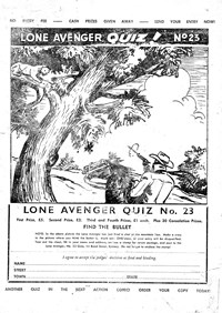 Action Comic (Leisure Productions, 1948 series) #34 — Lone Avenger Quiz! No. 23 (page 1)