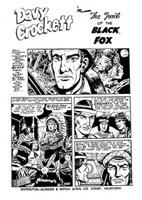 Fearless Davy Crockett (Yaffa/Page, 1965? series) #10 — The Trail of the Black Fox (page 1)