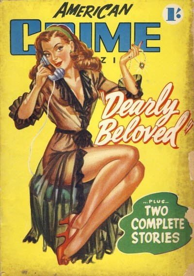 American Crime Magazine (Cleveland, 1953 series) #1 (January 1953) —Dearly Beloved