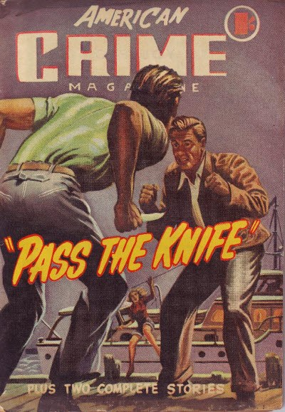American Crime Magazine (Cleveland, 1953 series) #4 (June 1953) —Pass the Knife