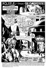 Kull the Conqueror (Yaffa/Page, 1977 series) #2 — Night of the Red Slayers! (page 1)